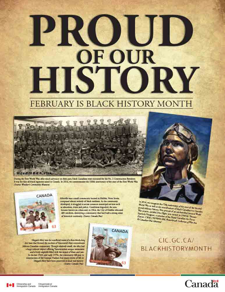 """Every February, Canadians mark Black History Month, an important annual celebration of the accomplishments of Canadians who trace their family heritage to Africa and the Caribbean."